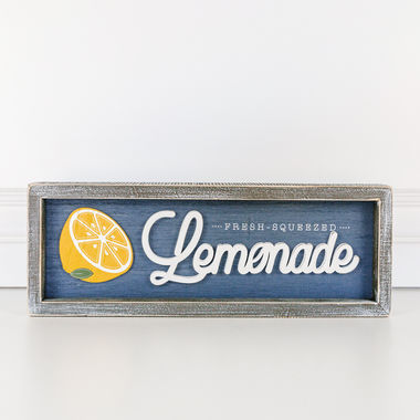 Click here to see Adams&Co 45032 45032 14x5x1.5 wd frmd sn (Fresh Squeezed Lemonade) multi