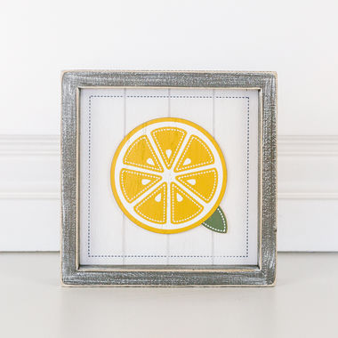 Click here to see Adams&Co 45027 45027 7x7x1.5 wd shplp sn (LEMON) wh/yl/gn