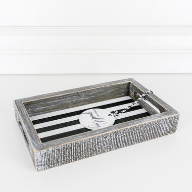 Click here to see Adams&Co 11038 11038 10x6x1.5 wd tray (TDY GD DY) wh/bk
