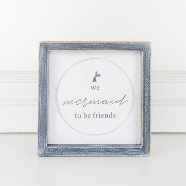 Click here to see Adams&Co 10992 10992 7x7x1.5 wd frmd sn (MRMD FRNDS) wh/gy