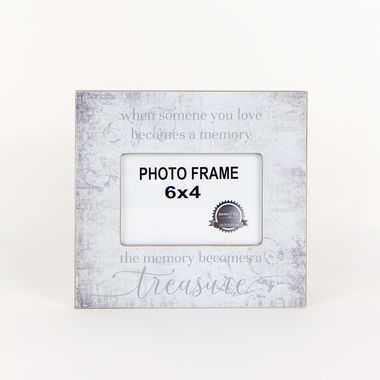Click here to see Adams&Co 11107 11107 9x8.5x.5 wood frame (When Someone You Love Becomes A Memory, The Memory Becomes A Treasure) grey/white (6x4)