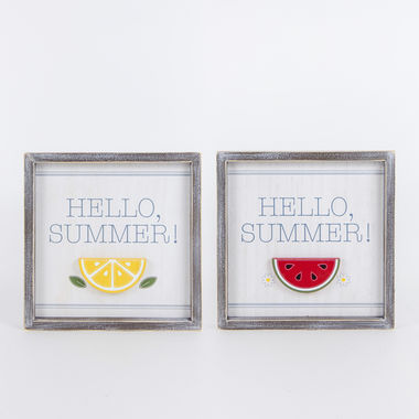 Click here to see Adams&Co 45038 45038 10x10x1.5 rvsbl wd frmd sn (HELLO SUMMER) multi