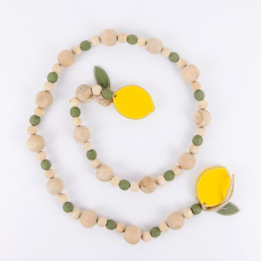 Click here to see Adams&Co 45069 45069 40x2x1 wd bead grlnd (LEMON) yl/gn/wh