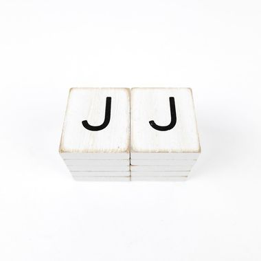 Click here to see Adams&Co 15503 15503 1.5x1.75x.25 wd letter tile s/10 (J) wh/bk