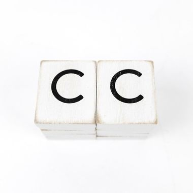 Click here to see Adams&Co 15496 15496 1.5x1.75x.25 wd letter tile s/10 (C) wh/bk