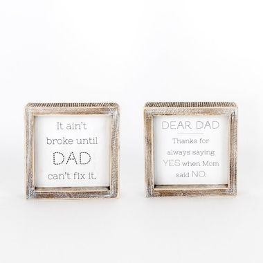 Click here to see Adams&Co 15596 15596 6x6x1.5 rvs wd frmd sn (DAD/YES) wh/gy