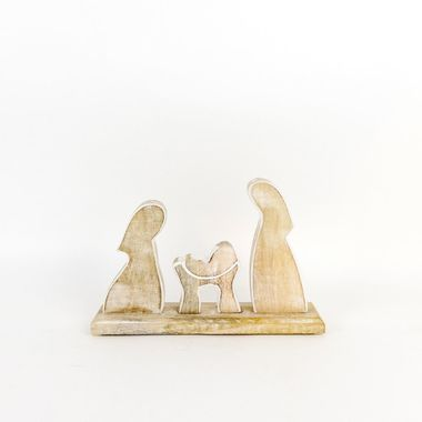 Click here to see Adams&Co 70820 70820 10.5x6.75x2.5 mngo wd cutout (NATIVITY) ntrl/wh