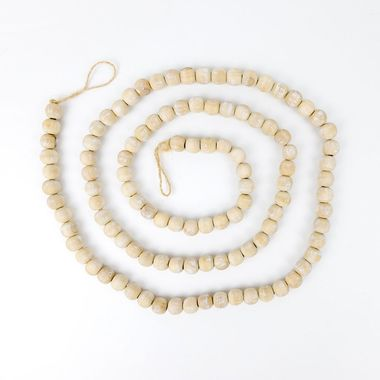Click here to see Adams&Co 11412 11412 60x.5 wd bead grlnd, natural/white