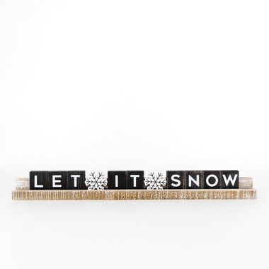 Click here to see Adams&Co 70941 70941 20x2.5x1 wd ledgie kit (LET SNOW) bk/wh