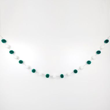 Click here to see Adams&Co 75438 75438 5 pom pom garland gn/wh/bk