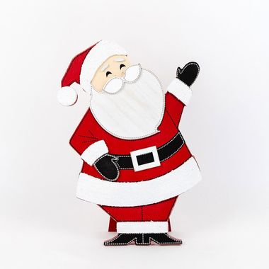 Click here to see Adams&Co 75415 75415 10x12x2 wd cutout on stnd (SANTA) wh/rd/bk/gy