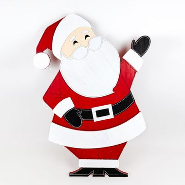 Click here to see Adams&Co 75414 75414 23x32x2 wd cutout on stnd (SANTA) wh/rd/bk/gy
