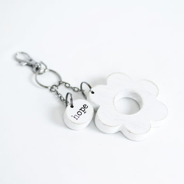 Click here to see Adams&Co 30239 30239 2.75x3x.5 wd keychain (HOPE) wh/bk
