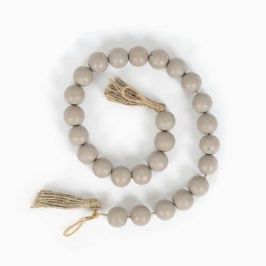 Click here to see Adams&Co 15632 15632 24x1x1 wd bead grlnd w/tassels grey
