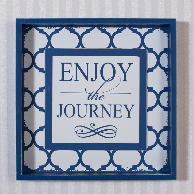 10 X 1 5 Wood Shadow Box Sign Enjoy Journey Model Number 18873